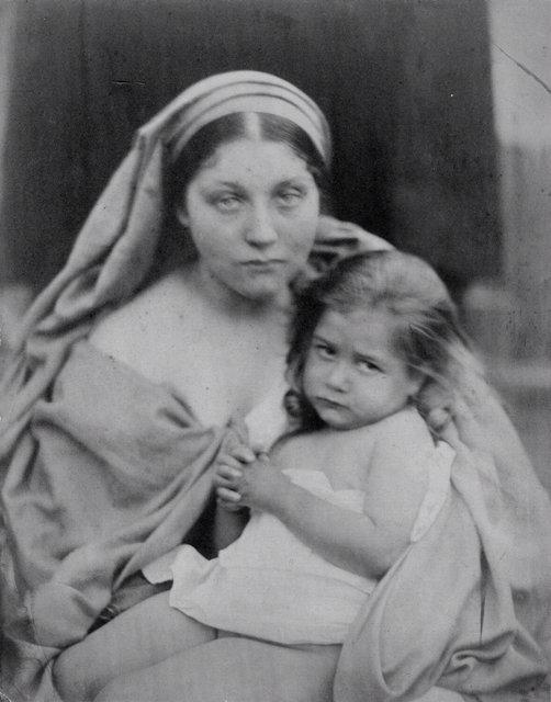 """La bontá, una delle nove foto che illustrano """"I frutti dello spirito"""", 1864 La modella é Mary Hillier."""