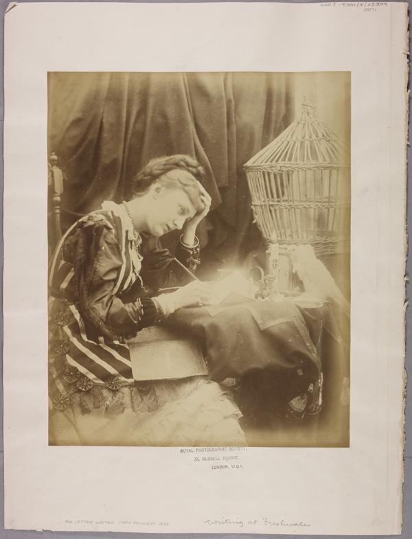 Mary Princep scrive una lettera, 1870